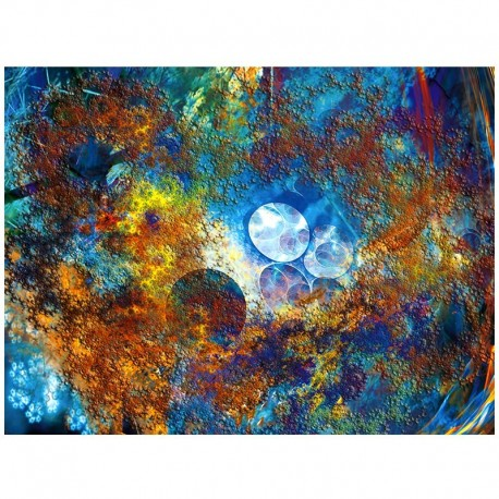 Fractal 1 - Coral Blue